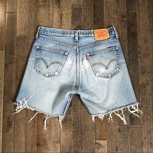 Vintage Levi's 501 custom cut off jean shorts!!!